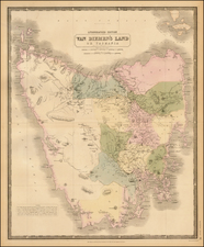 Van Diemen's Island or Tasmania By W. & A.K. Johnston