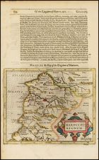 North Africa Map By Jodocus Hondius / Samuel Purchas