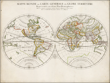 World and World Map By Pierre Mariette - Nicolas Sanson