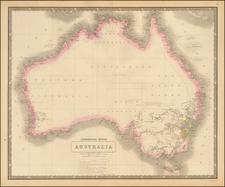 Australia Map By W. & A.K. Johnston