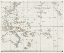 Australia and Oceania Map By F.W. Streit