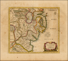Ireland Map By Henricus Hondius