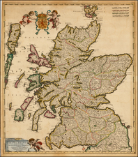 Scotland Map By Frederick De Wit