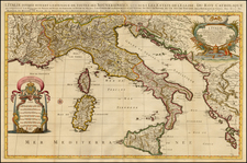 Italy Map By Johannes Covens  &  Pieter Mortier