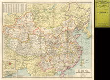 China, Korea and Central Asia & Caucasus Map By George Philip & Son