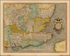 British Isles Map By Jodocus Hondius / Gerhard Mercator