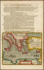 Greece, Mediterranean and Balearic Islands Map By Jodocus Hondius / Samuel Purchas