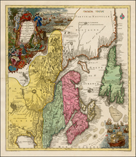 New England and Canada Map By Tobias Conrad Lotter