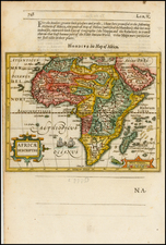 Africa and Africa Map By Jodocus Hondius / Samuel Purchas