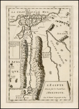 Egypt Map By Pierre Du Val