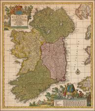 Ireland Map By Johann Baptist Homann / Tobias Conrad Lotter