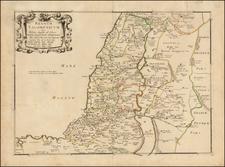 Holy Land Map By Philippe de la Rue