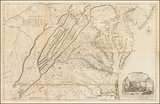 Mid-Atlantic and Southeast Map By Joshua Fry  &  Peter Jefferson