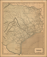 Texas Map By Sidney Morse  &  Samuel Breese