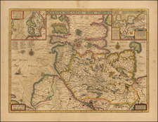 Germany Map By Henricus Hondius