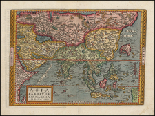 Asia and Asia Map By Matthias Quad / Johann Bussemachaer