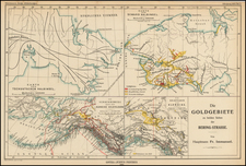 Alaska and Canada Map By Augustus Herman Petermann