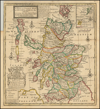 Scotland Map By Hermann Moll