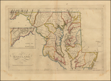 Mid-Atlantic and Maryland Map By Mathew Carey