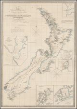 New Zealand Map By James Wyld