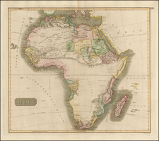 Africa Map By John Thomson