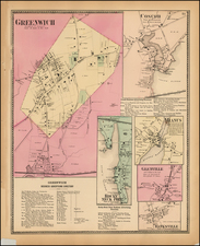 New England and Connecticut Map By Beers