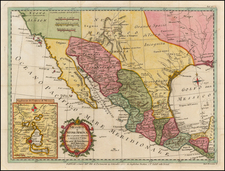 Texas, Southwest, Mexico and Baja California Map By Thomas Kitchin