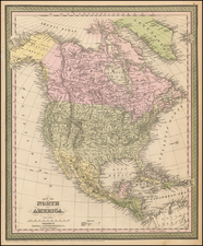 North America Map By Thomas, Cowperthwait & Co.