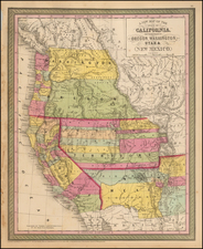 Southwest, Rocky Mountains and California Map By Thomas, Cowperthwait & Co.