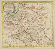 Poland Map By Louis Brion de la Tour