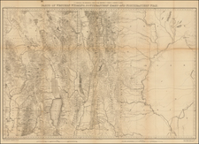 Rocky Mountains, Utah and Wyoming Map By F.V. Hayden
