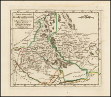Poland and Ukraine Map By Didier Robert de Vaugondy
