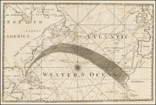 Atlantic Ocean, United States, North America and Caribbean Map By American Philosophical Society / Benjamin Jones