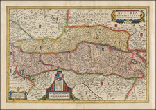 Austria and Czech Republic & Slovakia Map By Cornelis II Danckerts