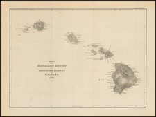 Hawaii and Hawaii Map By Charles Wilkes