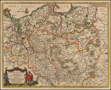 Poland and Baltic Countries Map By Pieter van der Aa