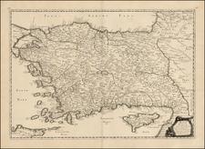 Turkey, Cyprus and Turkey & Asia Minor Map By Philippe de la Rue