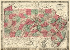 Map By Benjamin P Ward  &  Alvin Jewett Johnson