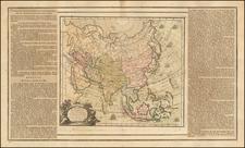 Asia and Asia Map By Louis Brion de la Tour