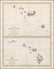 Hawaii and Hawaii Map By Jean Francois Galaup de La Perouse