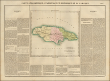 Jamaica Map By Jean Alexandre Buchon