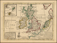 British Isles Map By Hermann Moll