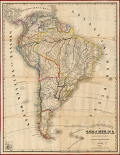 South America Map By Lienhart Holle