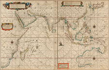 Indian Ocean, China, Japan, India, Southeast Asia, Philippines, Other Islands, Central Asia & Caucasus, Middle East, East Africa, African Islands, including Madagascar, Australia and Oceania Map By Hendrick Doncker