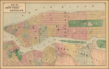 New York City Map By Comstock & Cline Beers