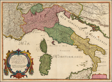 Italy Map By Melchior Tavernier