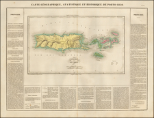 Caribbean Map By Jean Alexandre Buchon