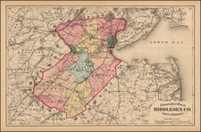 New Jersey Map By Comstock & Cline Beers