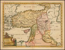 Turkey, Cyprus and Turkey & Asia Minor Map By Thomas Jefferys