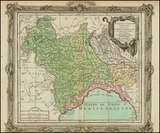 Europe, Italy and Northern Italy Map By Louis Brion de la Tour